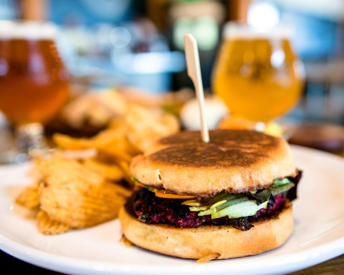 Beer + Burger Night at Brix