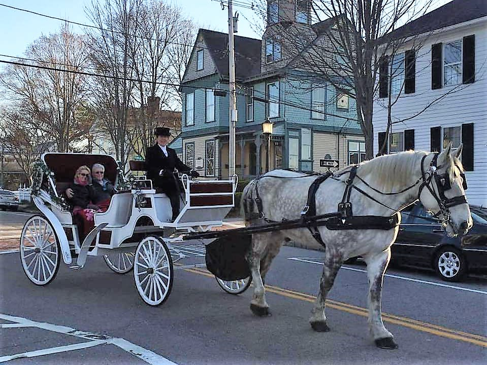 Valentine's Day Carriage Rides in Historic Wickford Village