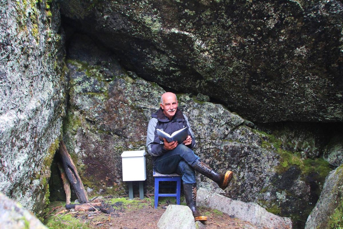 Eivind Fredlaus Stone Cave Hiking Al Norway