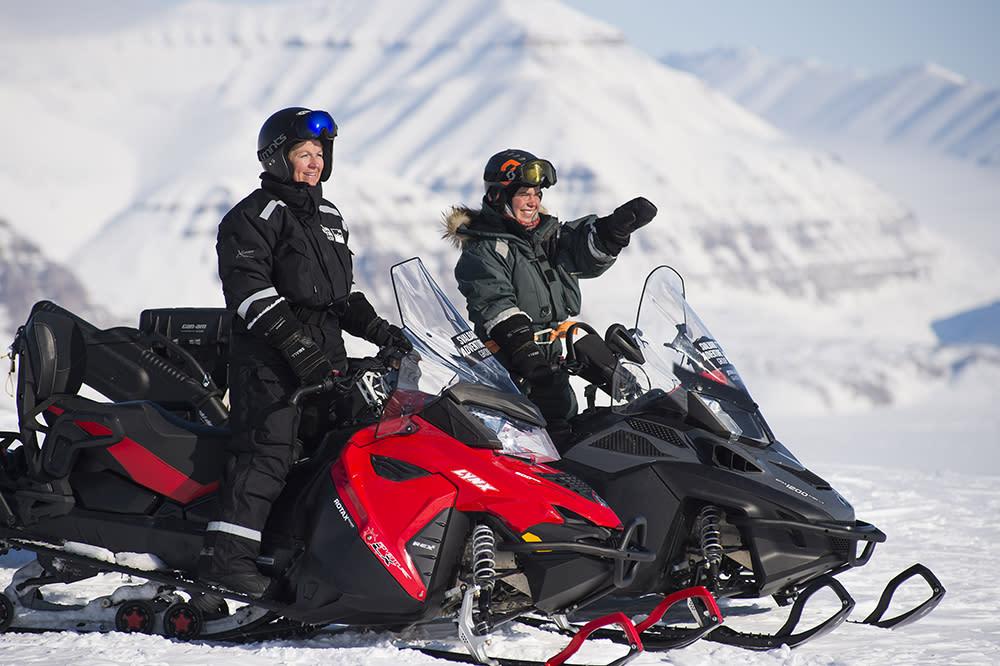 Snowmobile safari to the wild fjords - Svalbard Adventures