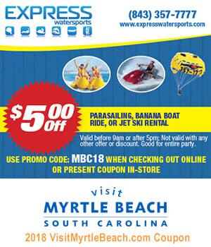 Express Watersports 5 Off Parasailing Banana Boat Ride Or Jet Ski Al