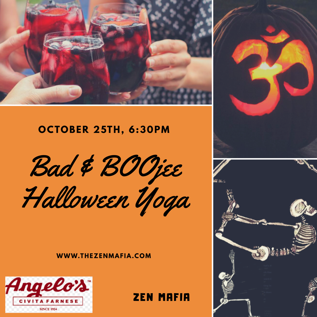 BAD & BOOjee Halloween yoga