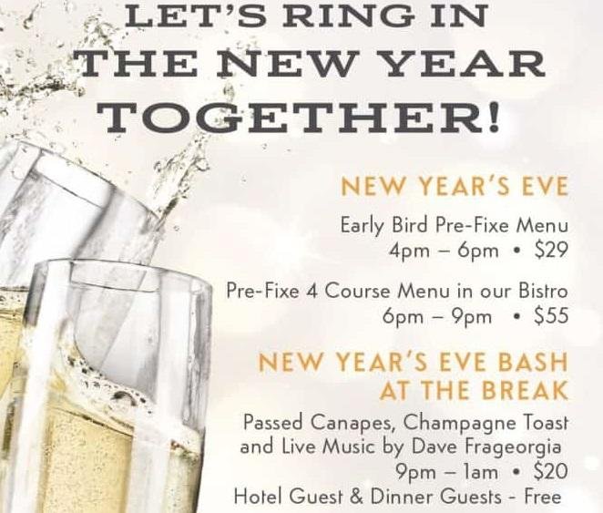 New Years Eve Bash at The Break Hotel/Chair 5