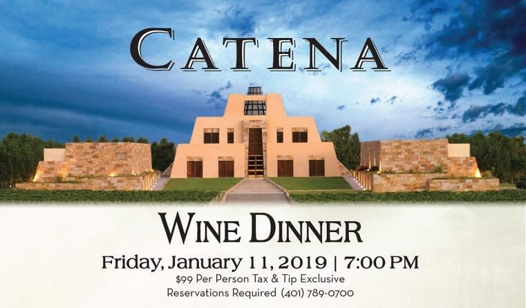 Catena Wine Dinner at the Coast Guard House