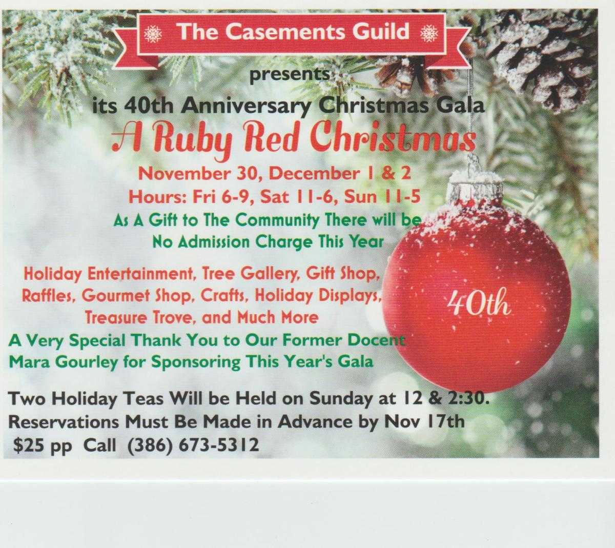 a ruby red christmas gala at the casements - And This Christmas Will Be A Very Special Christmas