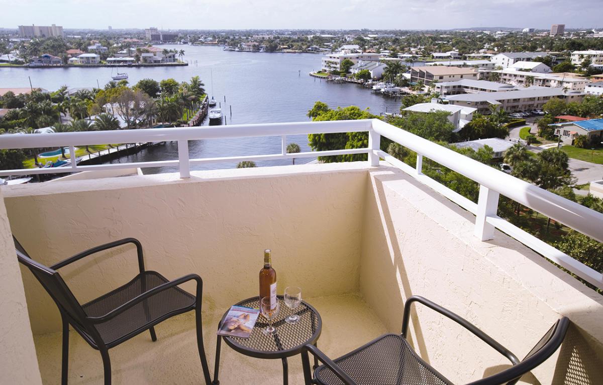 Pompano Beach Fl Wyndham Santa Barbara Resort Balcony View Gallery