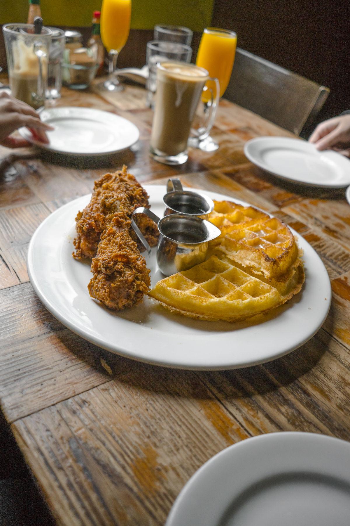 chicken waffles - Brown Sugar Kitchen
