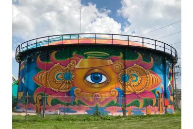 Perpetual Perception - Water Tank Mural