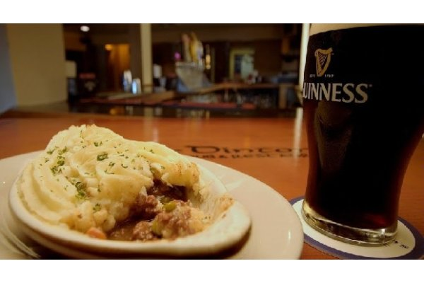 Shepards pie and Guinness