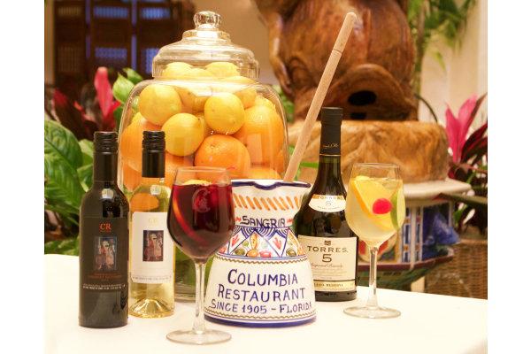 Columbia signature sangria, prepared tableside