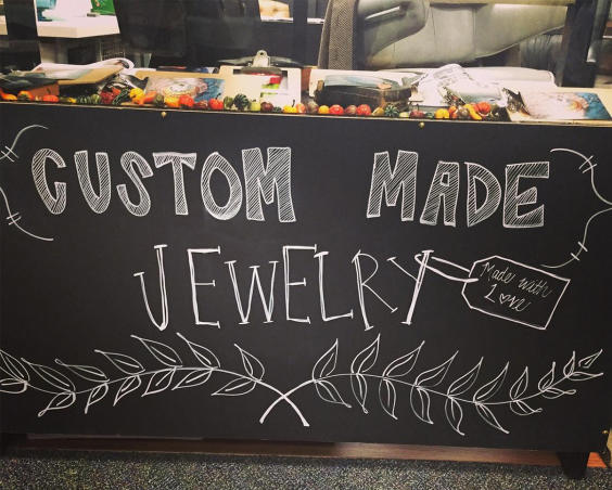 Seize the Night Designs - Custom Made Jewelry Sign