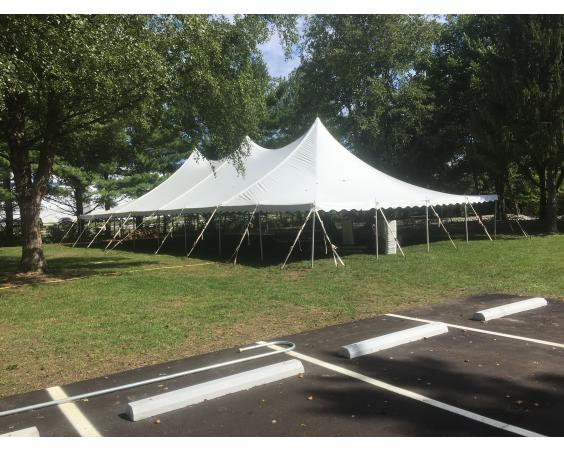 Tent with trees