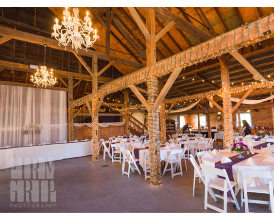 Avon Wedding Barn with tables