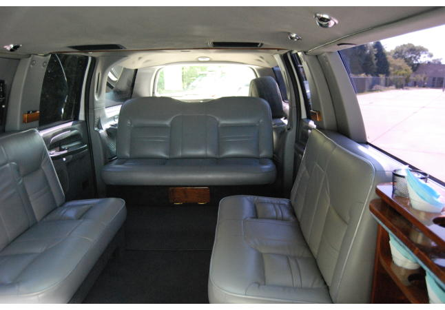 12 passenger stretch SUV inside