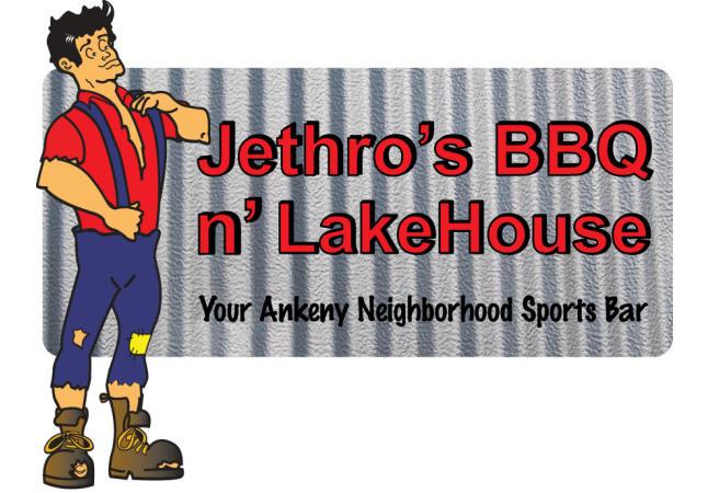 Logo for Jethro's BBQ N' Lakehouse
