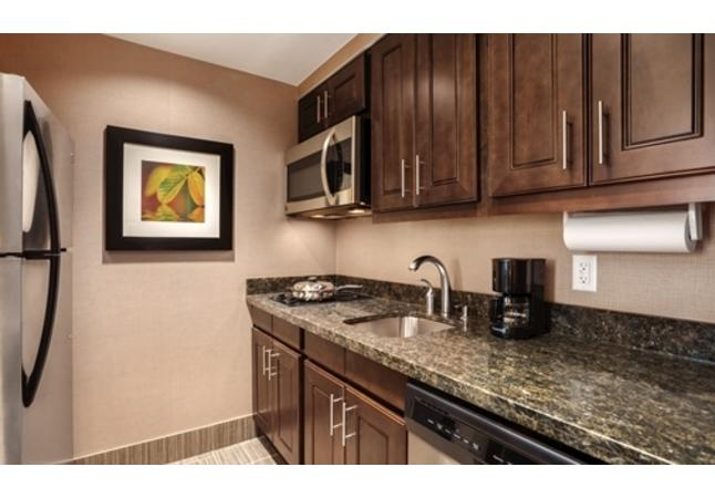 All Suites have a full galley style kitchen