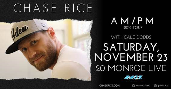 921b0aa6 Chase Rice AM/PM 2019 Tour W/ Cale Dodds | Music in Grand Rapids, MI