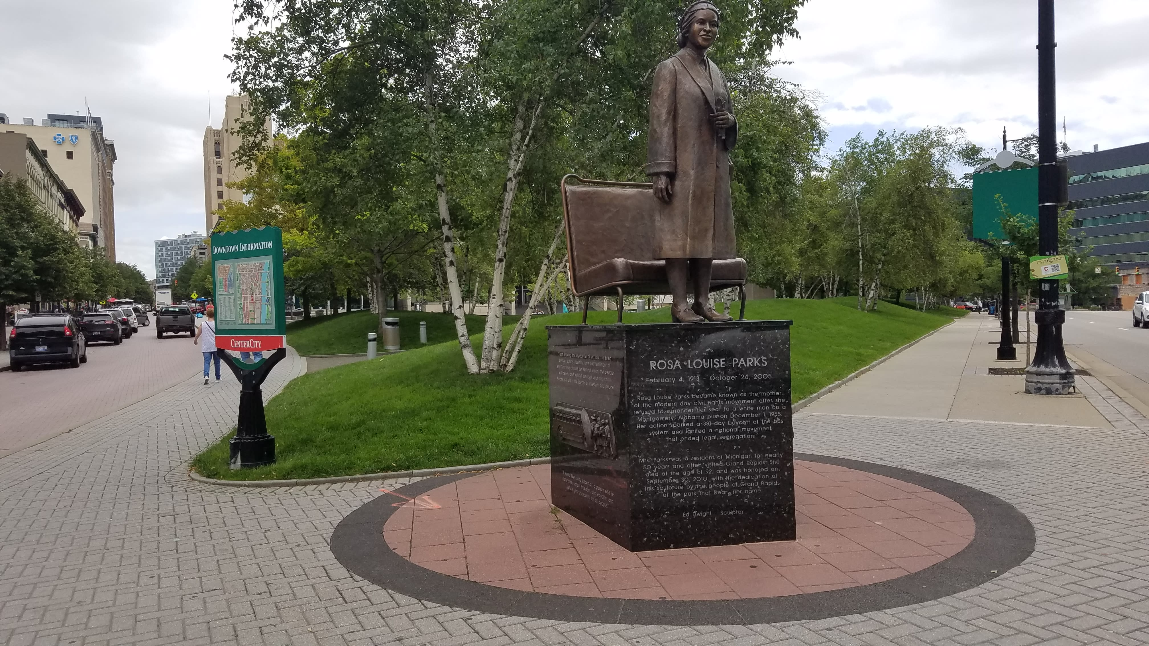 Rosa Louise Parks Sculpture Arts In Grand Rapids Mi
