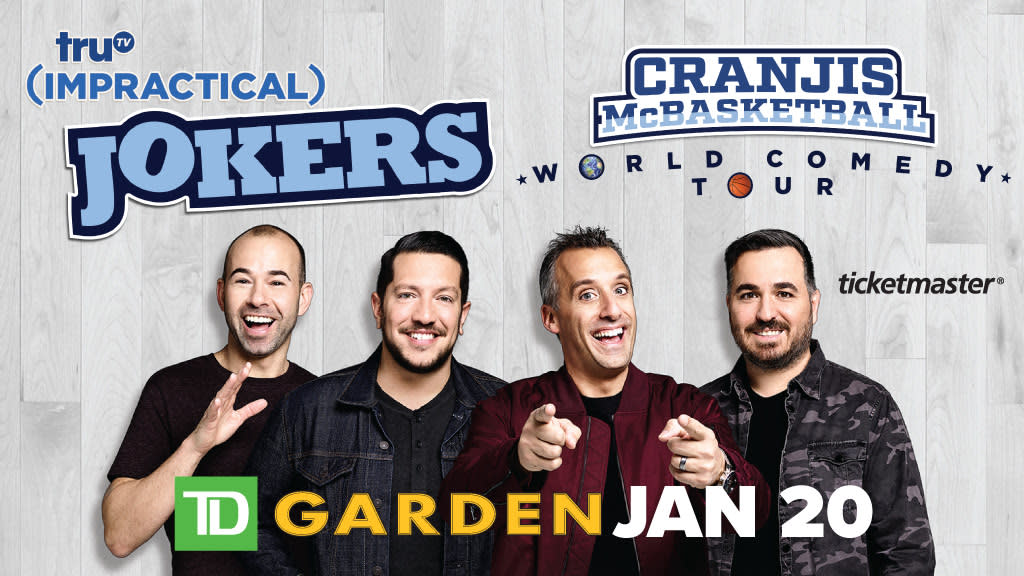 Trutvs impractical jokers cranjis mcbasketball world comedy tour trutvs impractical jokers cranjis mcbasketball world comedy tour td garden m4hsunfo