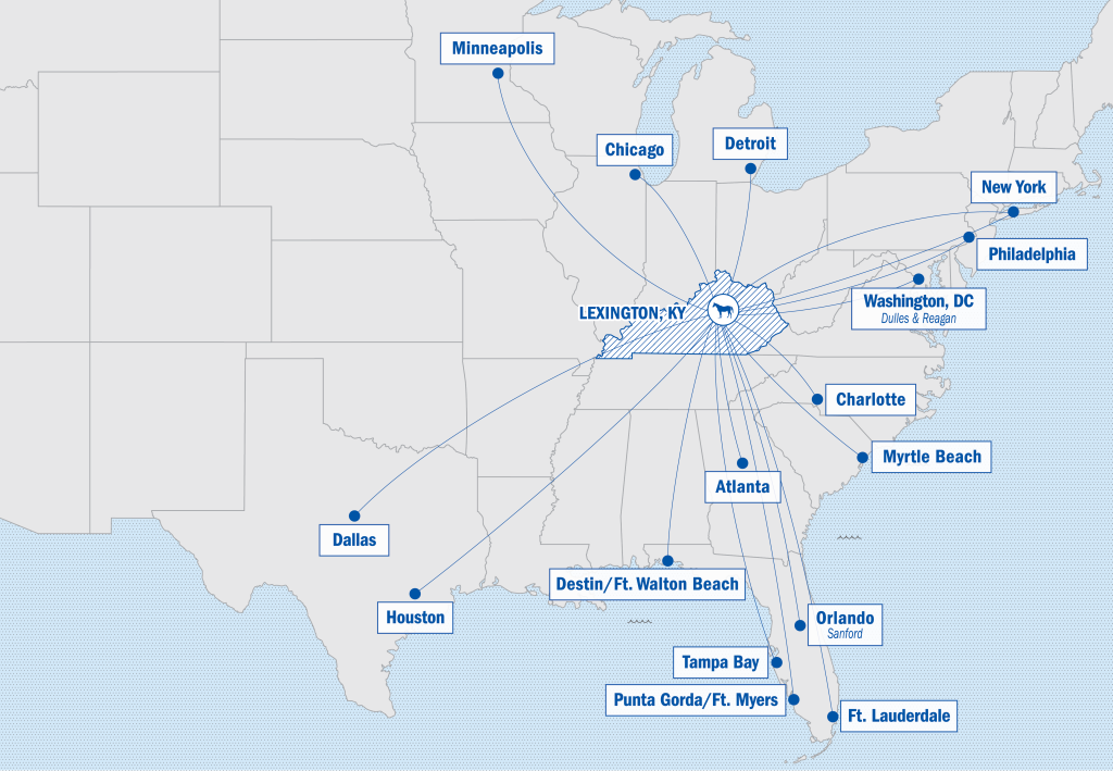 Direct Flights Map