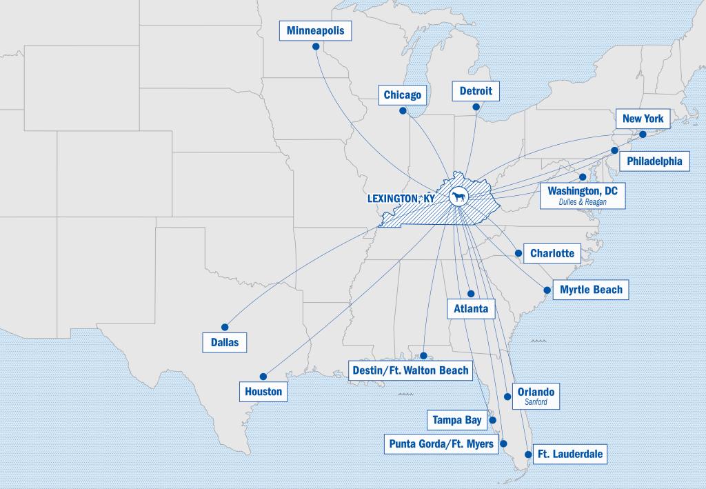 Direct Flights Map
