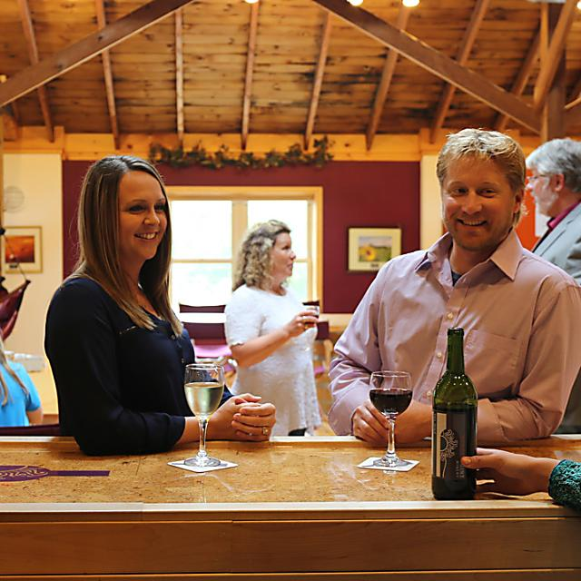 Sip and savor the wines at Sunset Point Winery in the Stevens Point Area.