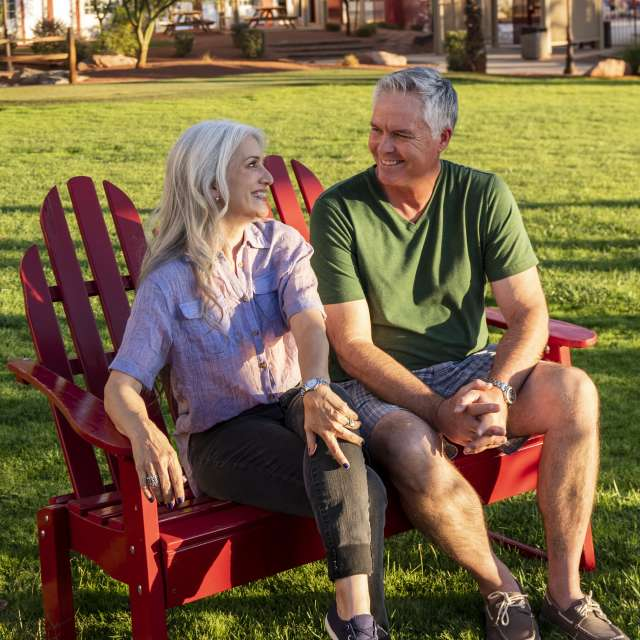 Couple Relaxing at Park in Mesquite, Nevada