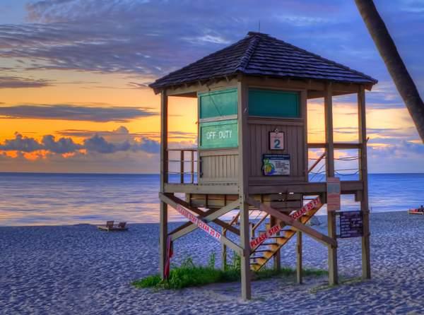 Life Guard Hut On Beach