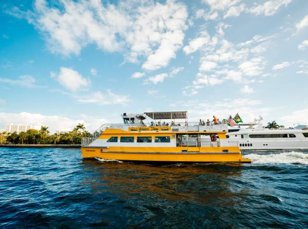 Water taxi in Fort Lauderdale