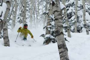 Powder Skiing in Aspens