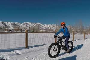 Snow Biking on Willow Creek Trail