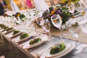 Table Setting During a Park City Summer Wedding