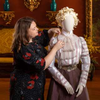 Reproduction Costume for A Vanderbilt House Party exhibit at Biltmore Estate 2019