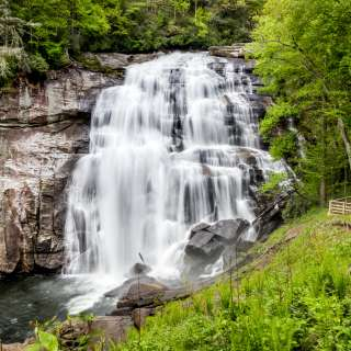 Rainbow Falls in Gorges State Park