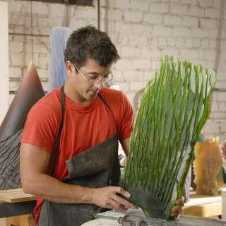 Asheville Glass Artist Alex Bernstein