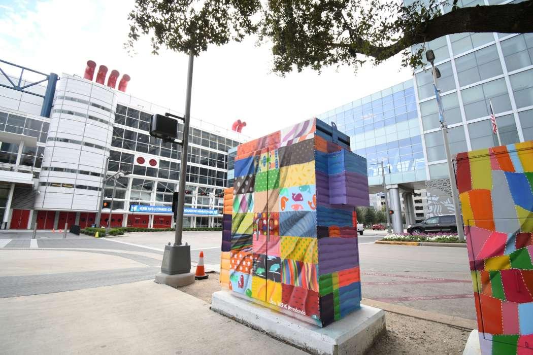 Quilts Mini Mural - Corner of Lamar & Avenida de las Americas