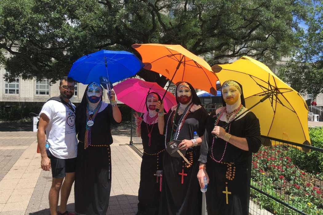Pride Festival attendees