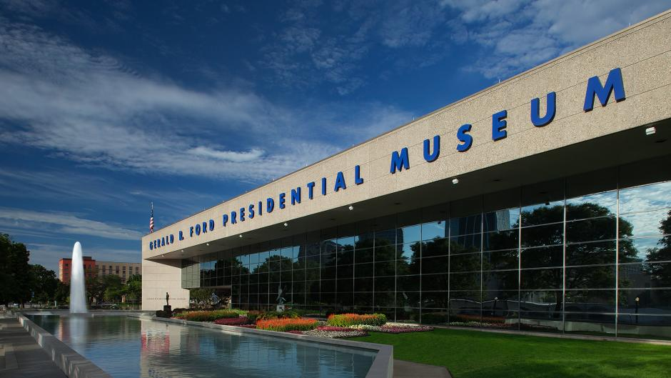 Gerald R. Ford Presidential Museum in Grand Rapids, MI, offers plenty to explore, both inside and out.