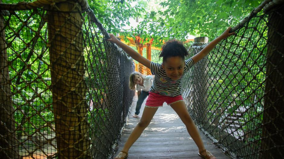 The Lena Meijer Children's Garden at Frederik Meijer Gardens & Sculpture Park is one of the many great places for kids to explore.