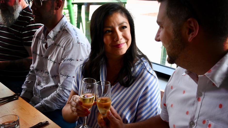 Friends enjoying a wine tour.