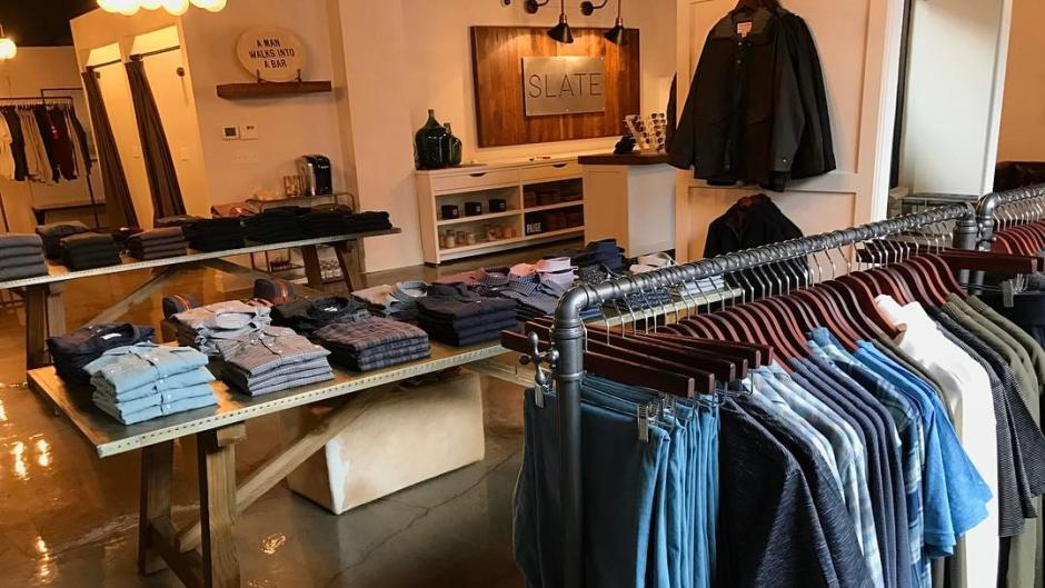 Slate offers a broad selection of fashion-forward wares for men.