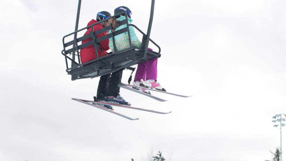 Chair lifts, tow ropes, and a variety of hills make Cannonsburg Ski Area fun for all ages and skill levels.