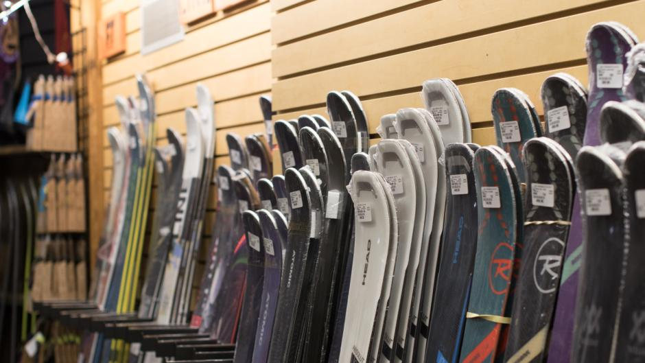 Check out Cannonsburg's on-site Summit Sports Shop to purchase skiing and snowboarding equipment.