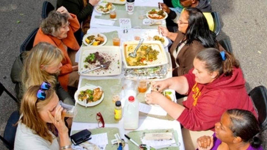 "Seitu Jones' ""The Heartside Community Meal."""