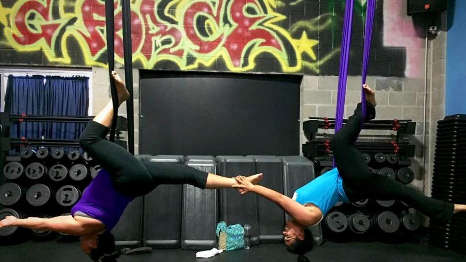 G-Force Fitness aerial yoga