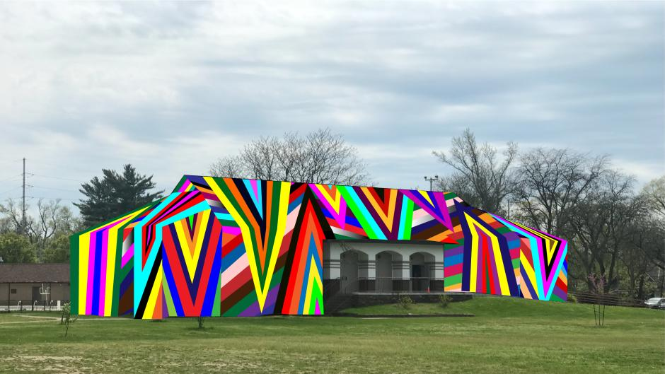 Amanda Browder's rendering of Kaleidoscopic will be installed over the community center at MLK park.