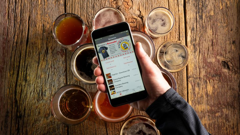 TRhe Beer City Brewsader Passport mobile app