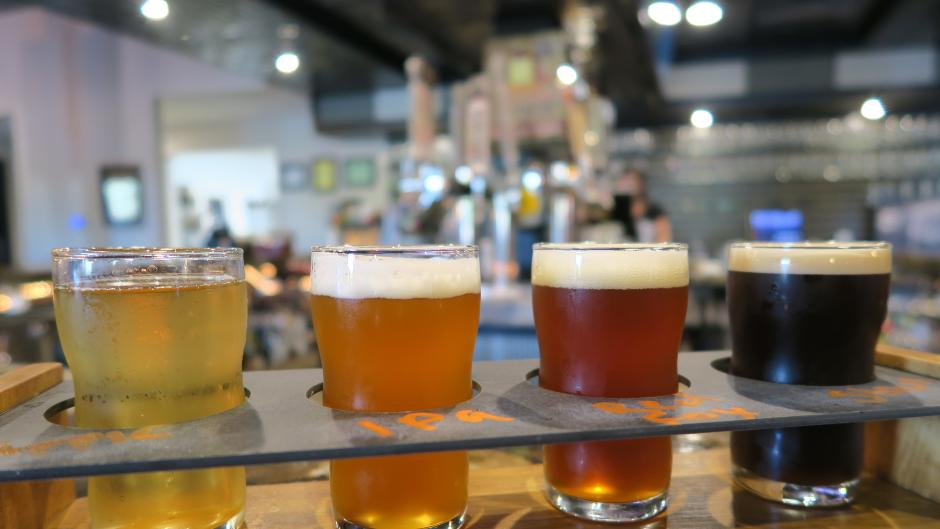 Big Boiler Brewing beer flight