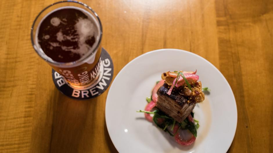 Brass Ring Brewing's food pairings contain locally-produced ingredients.