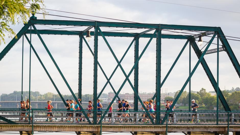 Get a great view of the Grand River during the Lake Michigan Credit Union Bridge Run.